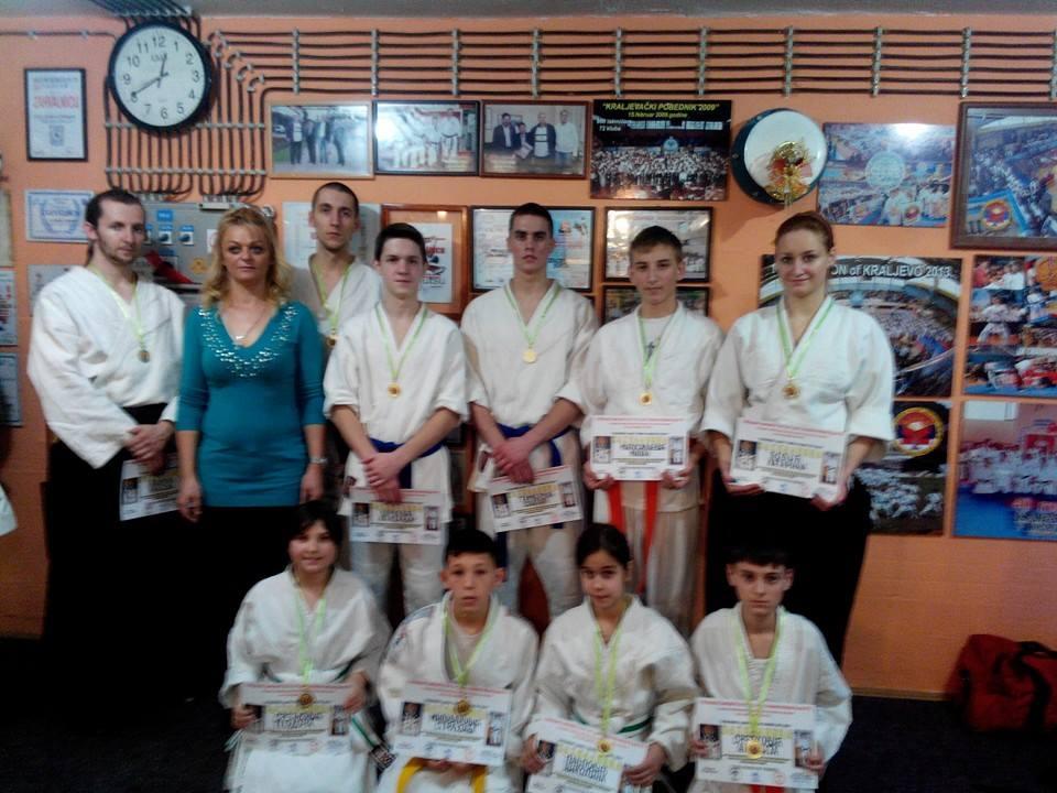 Vrnjčani na 4.Humanitarnom kupu Sv Save u karateu i borilačkim veštinama 2014.